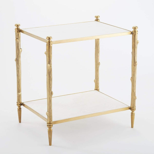 Global Views Arbor Side Table Brass 8.82037