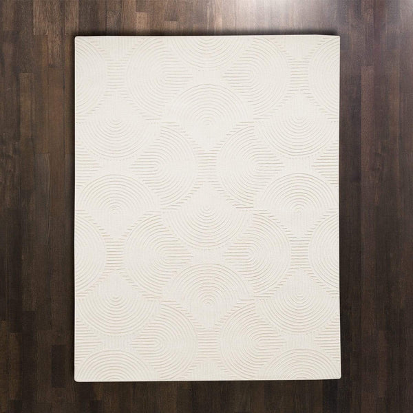 Global Views Arches Ivory Rug  - 4 Available Sizes