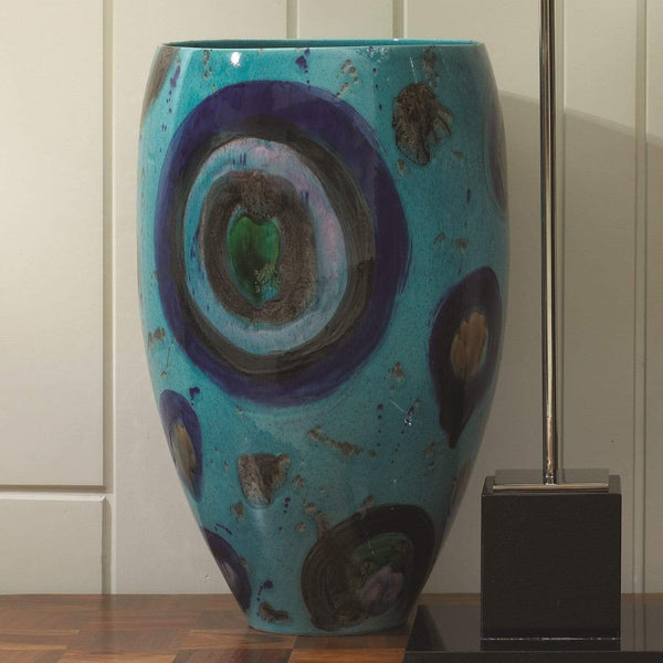 Global Views Blue Spots Vase 1731
