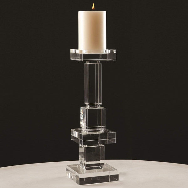 Global Views Brilliant Pillar Candle Holder Tall 8.81268