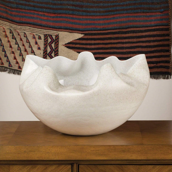 Global Views Cambrian Bowl Ivory/Sand 7.30086
