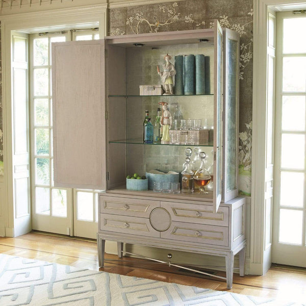 Global Views Collector's Cabinet Top Gray New Puck Light 2450