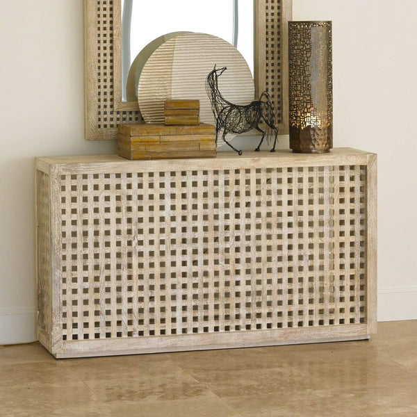 Global Views Driftwood Lattice Console 7.90354