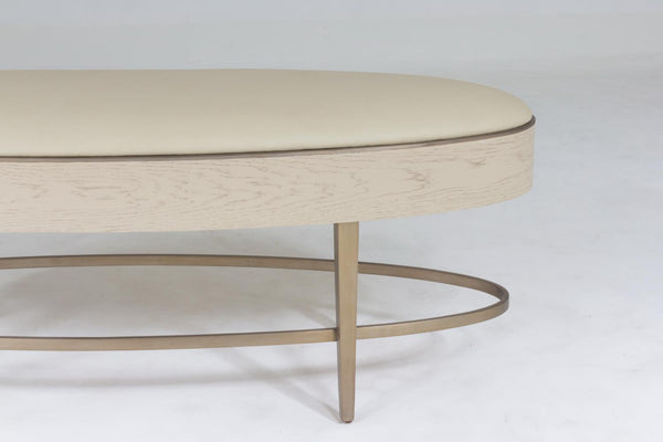Global Views Ellipse Ivory Bench AG2.20013