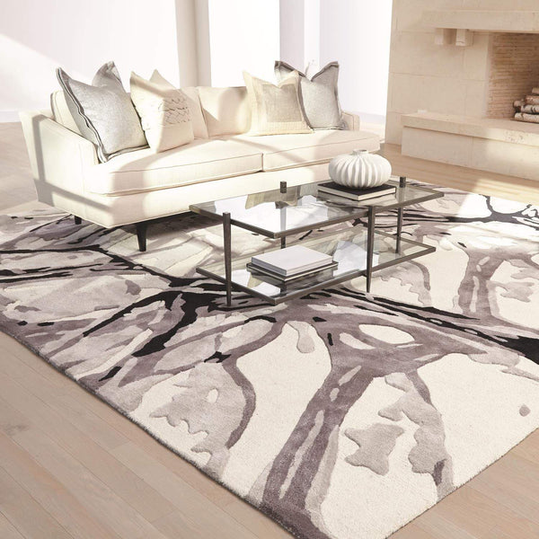 Global Views Eyes On The World Black/Ivory Rug