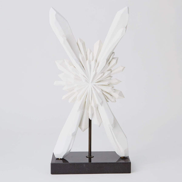 Global Views Facet Starburst Sculpture White AC5134