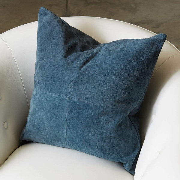 Global Views Four Square Pillow Sapphire 9.92876