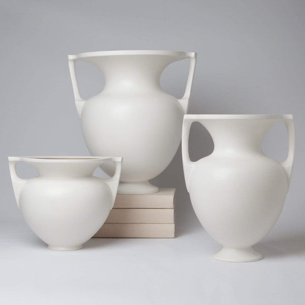 Global Views Grecian Amphora-Matte White