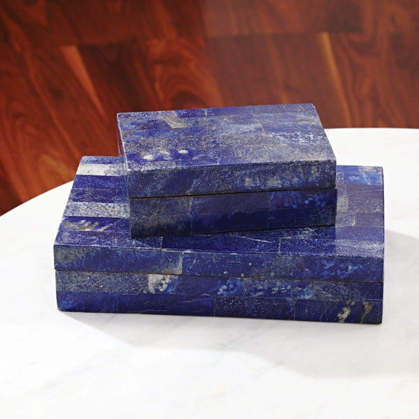 Global Views Lapis Stone Box
