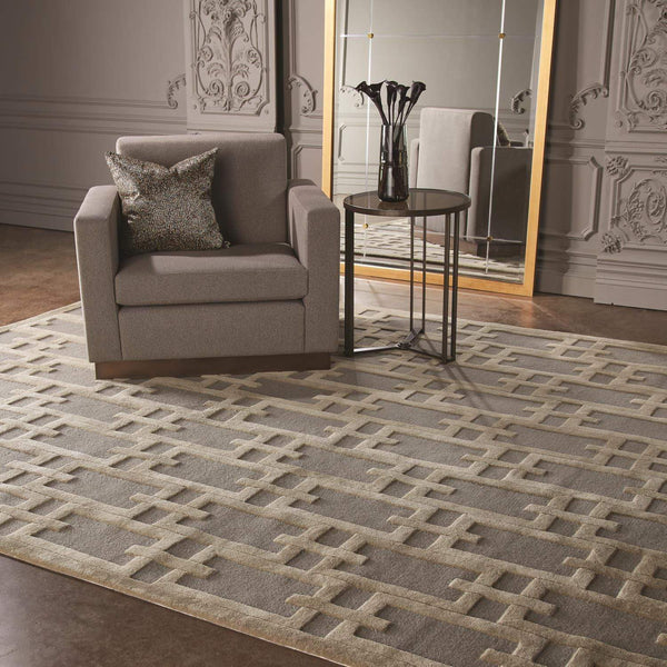 Global Views Link Gray/White Rug