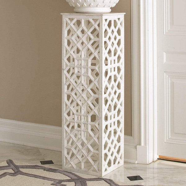 Global Views Marble Fret Pedestal 9.91948