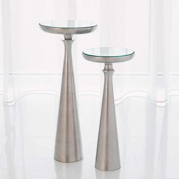 Global Views Global Views Minaret Accent Table-Satin Nickel