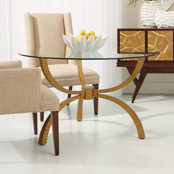 "Global Views Teton Table Gold 48"" 7.90649"
