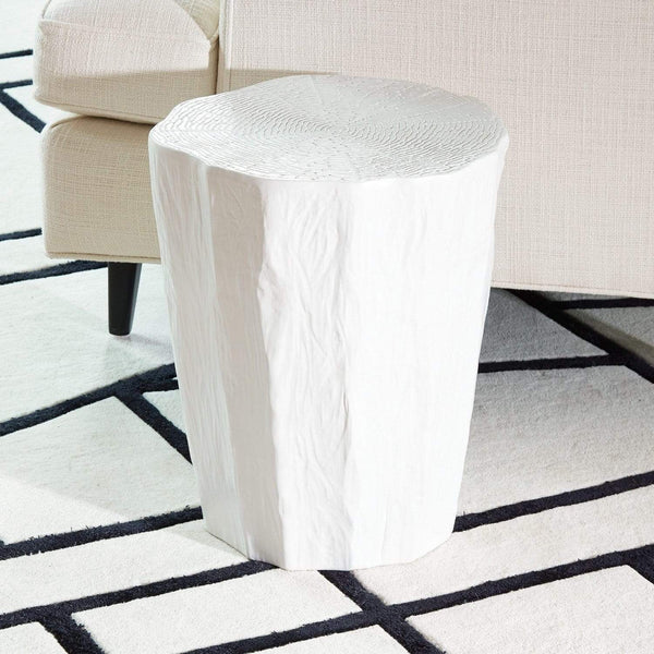 Global Views Trunk Stool White 1.10458