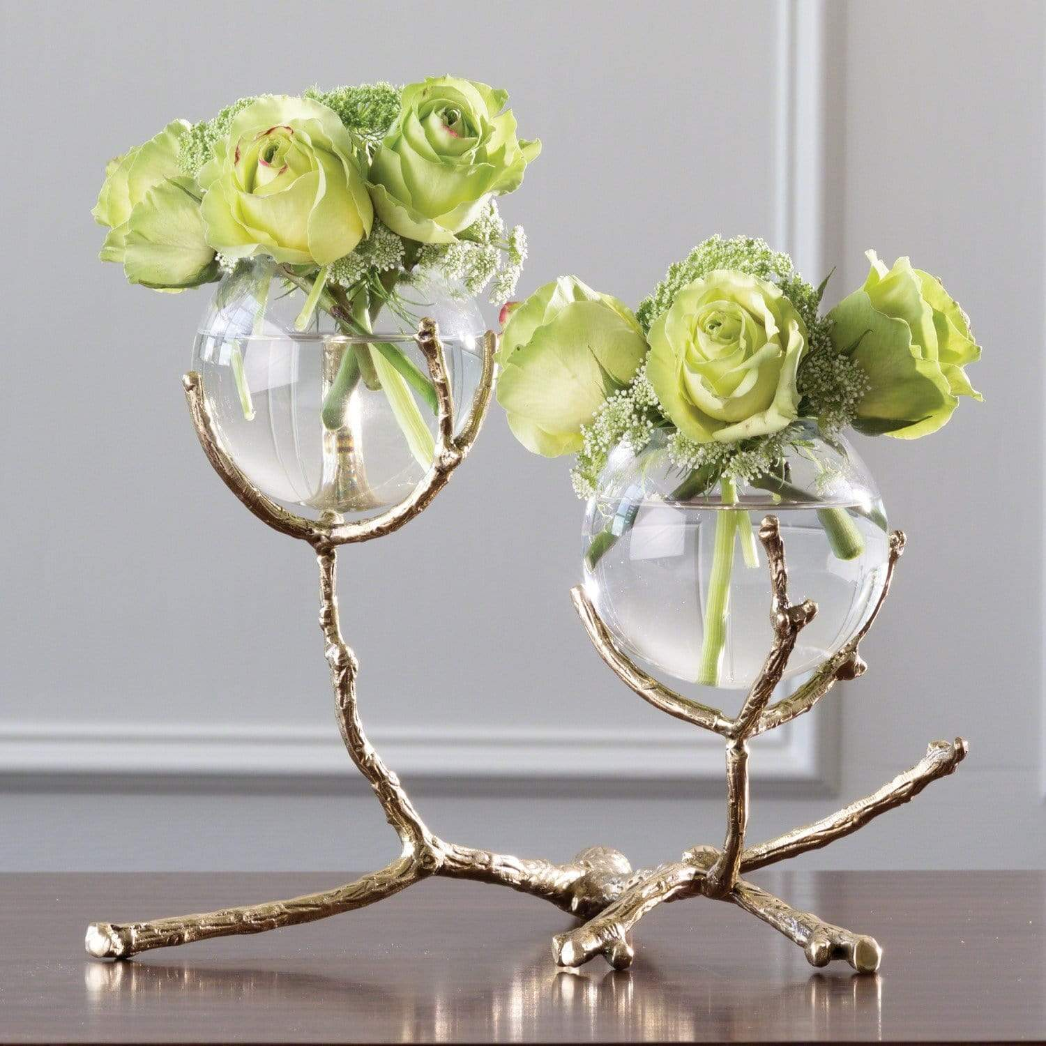 Global Views Global Views Twig 2 Vase Holder Brass 9.92655