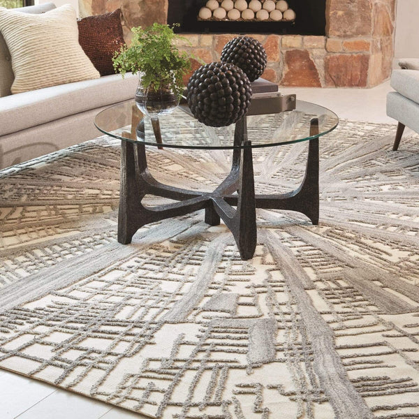 Global Views Vortex Gray/Ivory Rug - 4 Available Colors