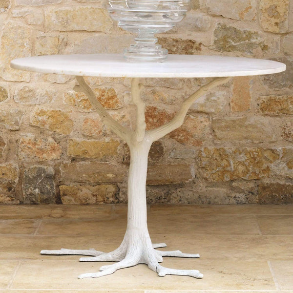 Global Views White Faux Bois Dining Table 8.81266