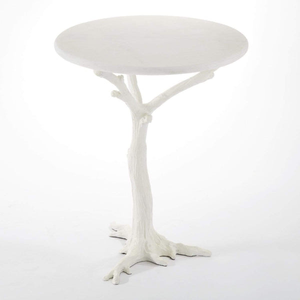 Global Views Global Views White Faux Bois Side Table 8.81027