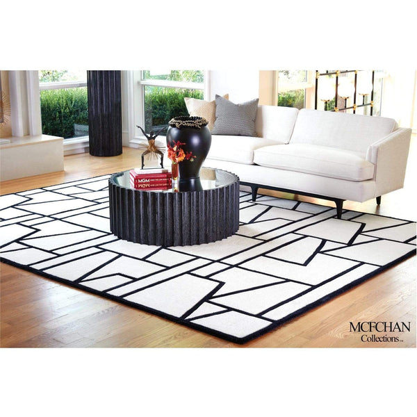 Global Views Zig Zag Black/Ivory Rug - 4 Available Sizes
