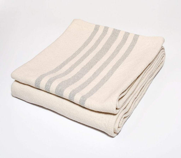 Harlow Henry Harlow Henry Cotton Stripe Gray Throw CST02