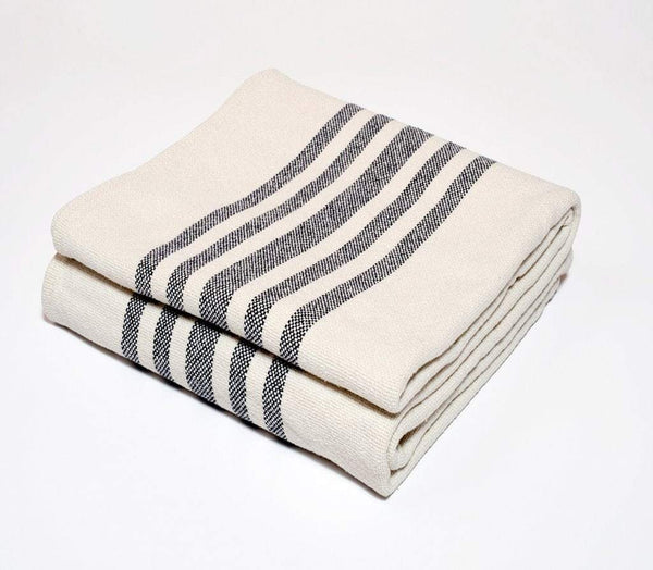 Harlow Henry Harlow Henry Cotton Stripe Indigo Throw CST01