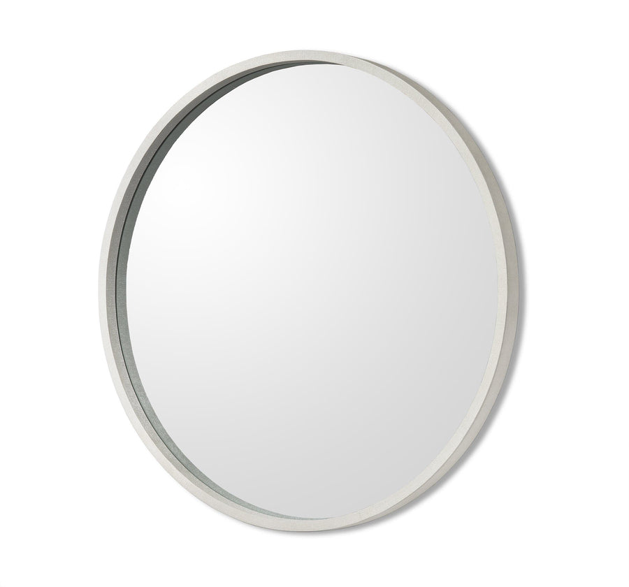 Interlude Home Como Grand Mirror - Natural White Finish