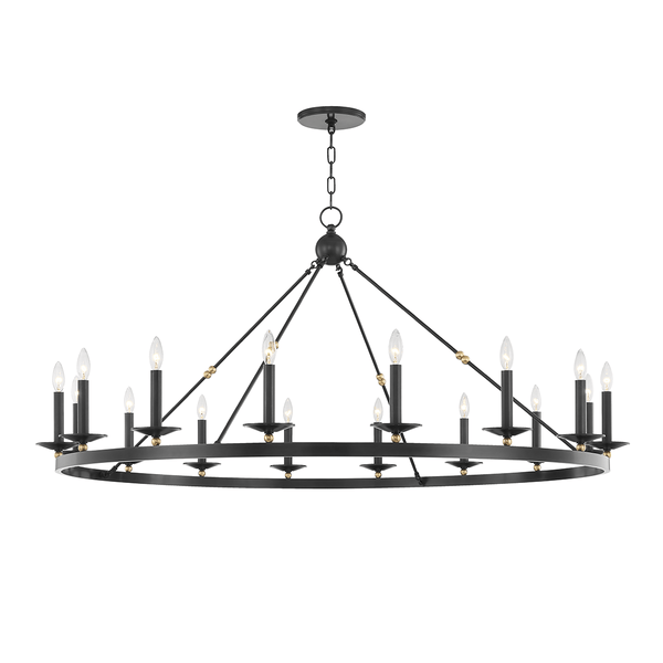 Hudson Valley Lighting Hudson Valley Lighting Allendale 16-Bulb Chandelier - Aged Old Bronze 3216-AOB