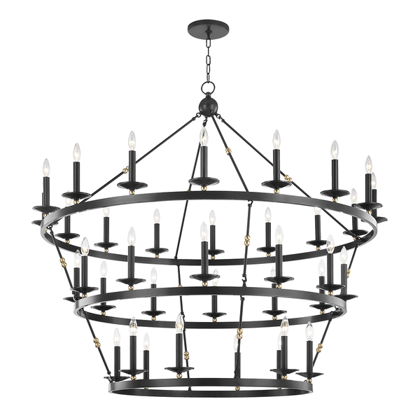 Hudson Valley Lighting Hudson Valley Lighting Allendale 36-Bulb Chandelier - Aged Old Bronze 3258-AOB