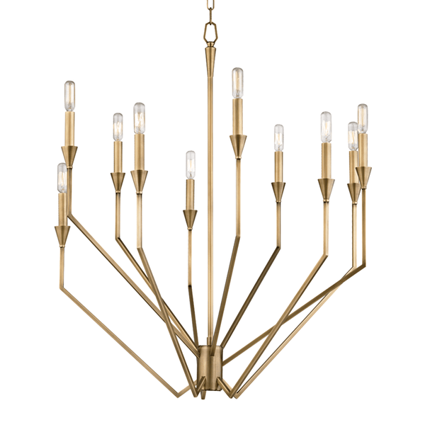 Hudson Valley Lighting Hudson Valley Lighting Archie 10-Bulb Chandelier - Aged Brass 8510-AGB