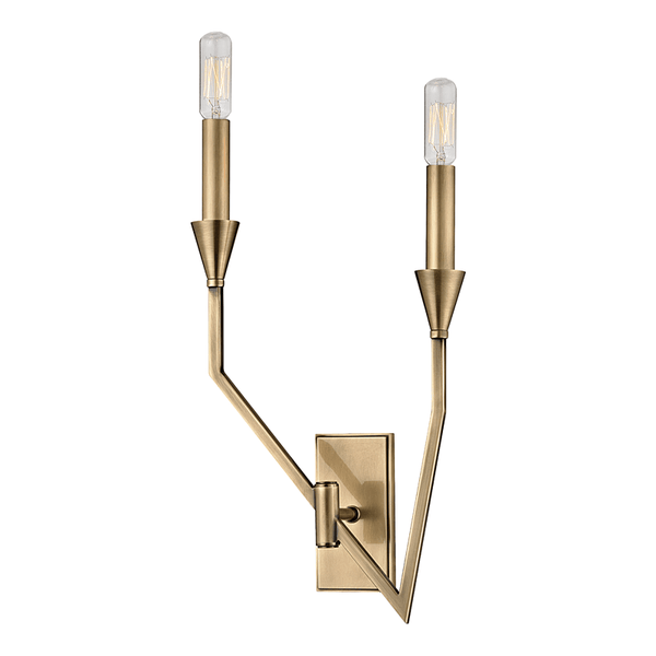 Hudson Valley Lighting Hudson Valley Lighting Archie 2-Bulb Sconce - Aged Brass 8502L-AGB