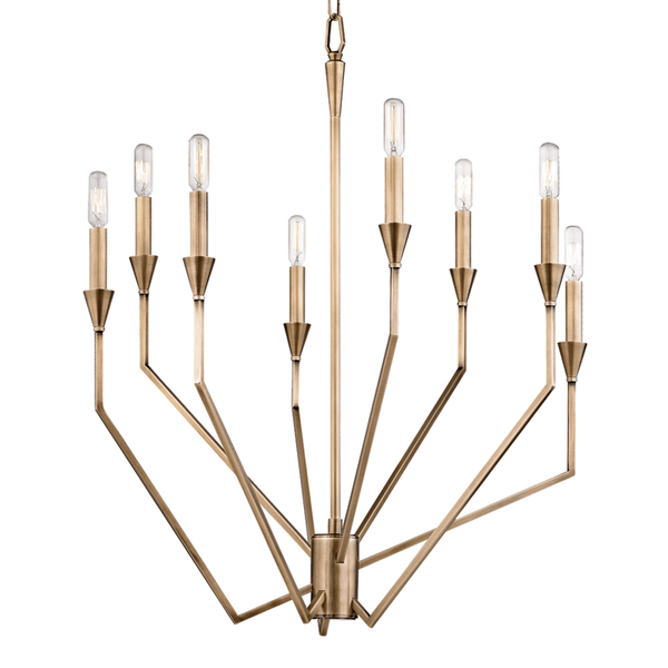 Hudson Valley Lighting Hudson Valley Lighting Archie 8-Bulb Chandelier - Aged Brass 8508-AGB