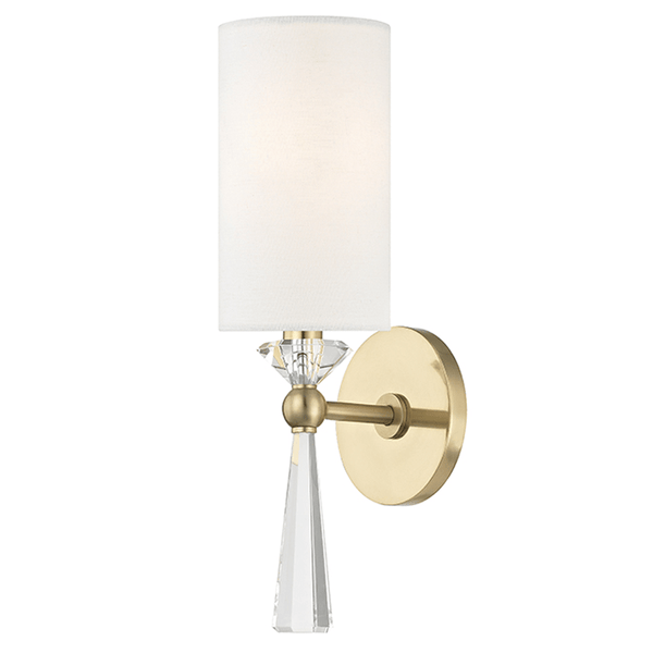 Hudson Valley Lighting Hudson Valley Lighting Birch Sconce - Aged Brass & Off White 9951-AGB