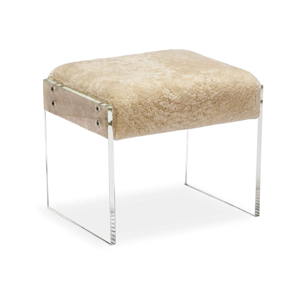Interlude Home Aiden Shearling Stool 179077