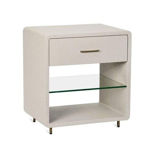 Interlude Home Alma Bedside Chest in Sand 128115
