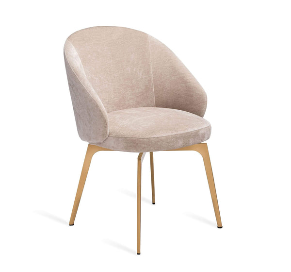 Interlude Home Amara Dining Chair in Beige Latte 148135