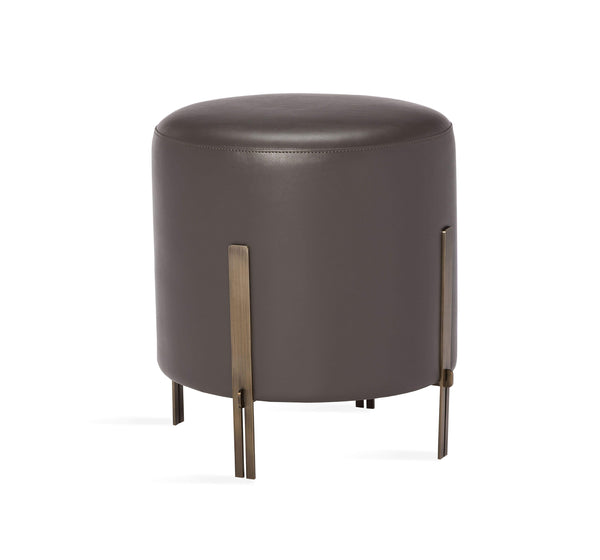 Interlude Home Bexley Stool in Grey 175165