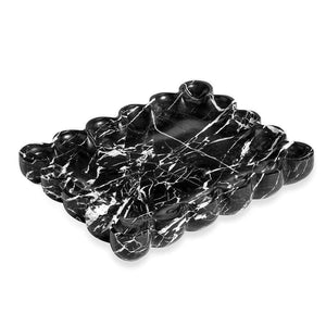 Interlude Home Bliss Scalloped Tray in Black 989008