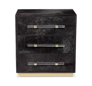 Interlude Home Interlude Home Cassian 3 Drawer Chest - Black, Brass 188120