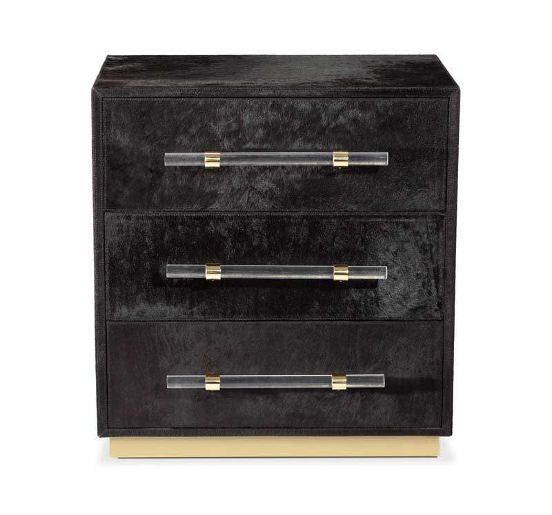 Interlude Home Cassian 3 Drawer Chest - Black, Brass 188120