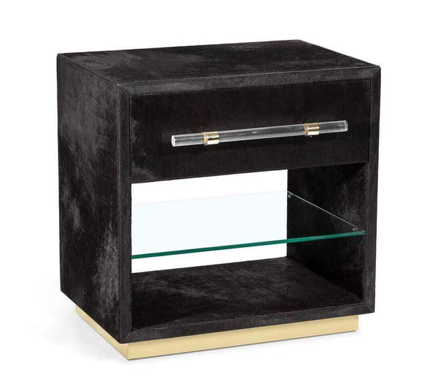 Interlude Home Interlude Home Cassian Bedside Chest - Black, Brass 155169