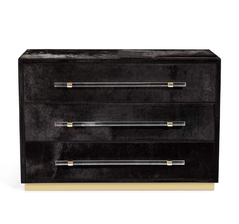 Interlude Home Interlude Home Cassian Grand Chest - Black, Brass 188121