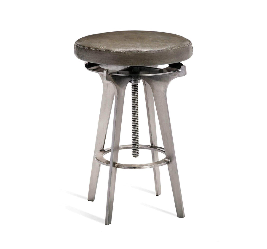 Interlude Home Colton Brown Leather Adjustable Stool - 2 Available Colors