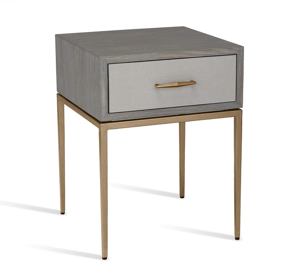 Interlude Home Corinna Bedside Table in Grey 125194