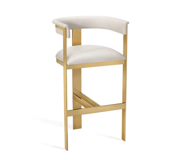 Interlude Home Darcy Bar Stool in Cream 148102