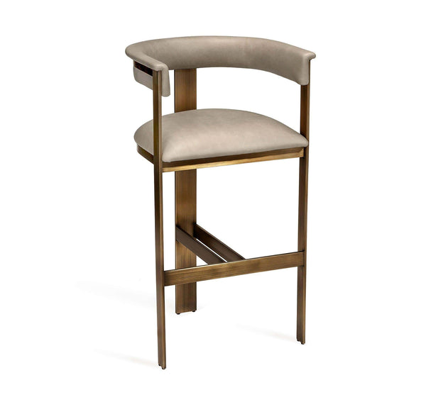 Interlude Home Darcy Bar Stool in Taupe 148103