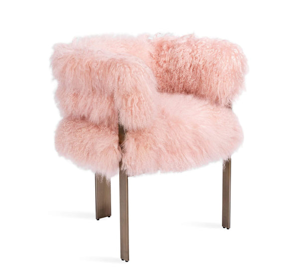 Interlude Home Darcy Chair in Blush Sheepskin 148162