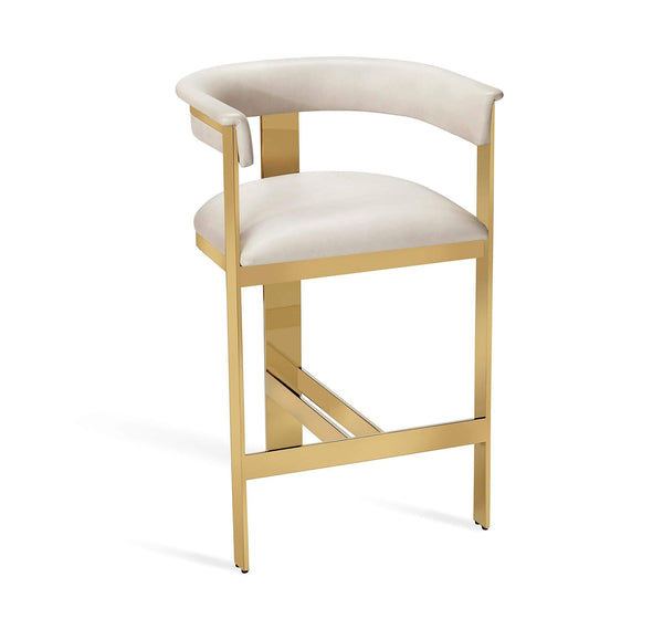 Interlude Home Darcy Counter Stool in Cream 145198