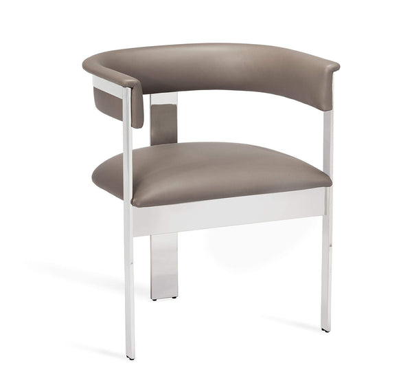 Interlude Home Darcy Dining Chair in Grey/ Nickel 148104