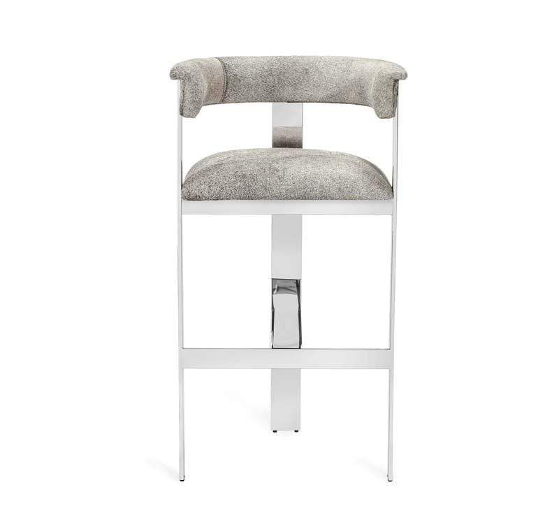 Interlude Home Interlude Home Darcy Hide Bar Stool - Nickel 149130