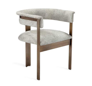 Interlude Home Darcy Hide Chair - Bronze 149125